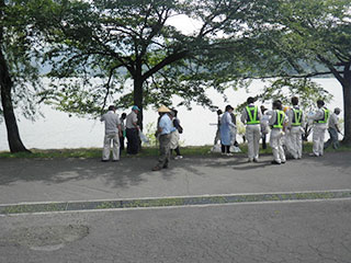 余呉湖一斉清掃活動